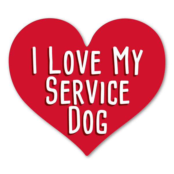 "Magnet - I Love My Service Dog (5.25"" x 4.5"")"