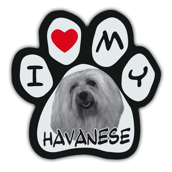 Picture Paw Magnet - I Love My Havanese
