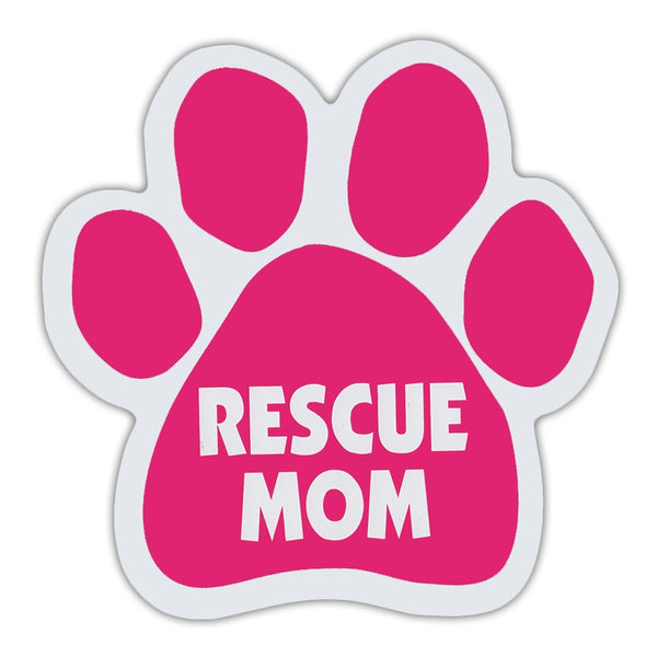 Pink Dog/Cat Paw Magnet - Rescue Mom