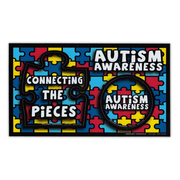 "Picture Frame Magnet - Autism Awareness (9"" x 5.25"")"