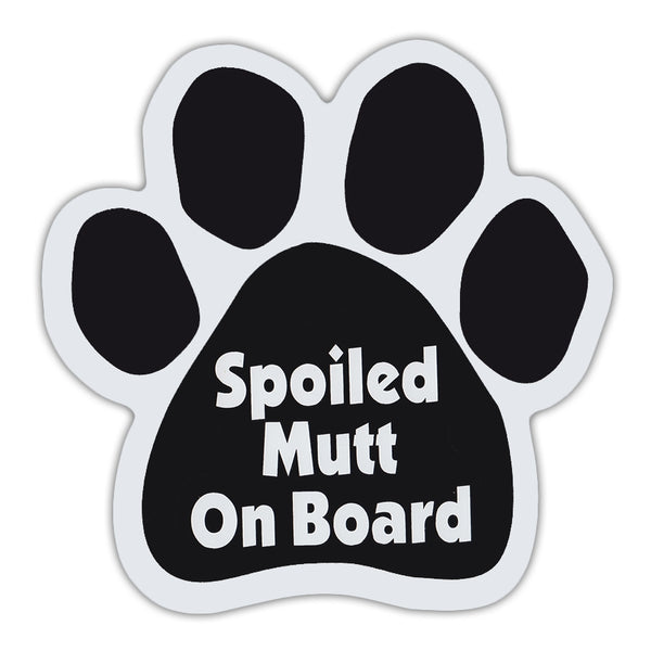 Dog Paw Magnet - Spoiled Mutt On Board