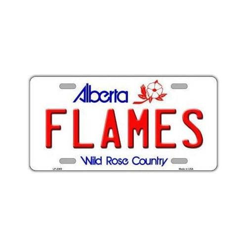 NHL Hockey License Plate Cover - Calgary Flames