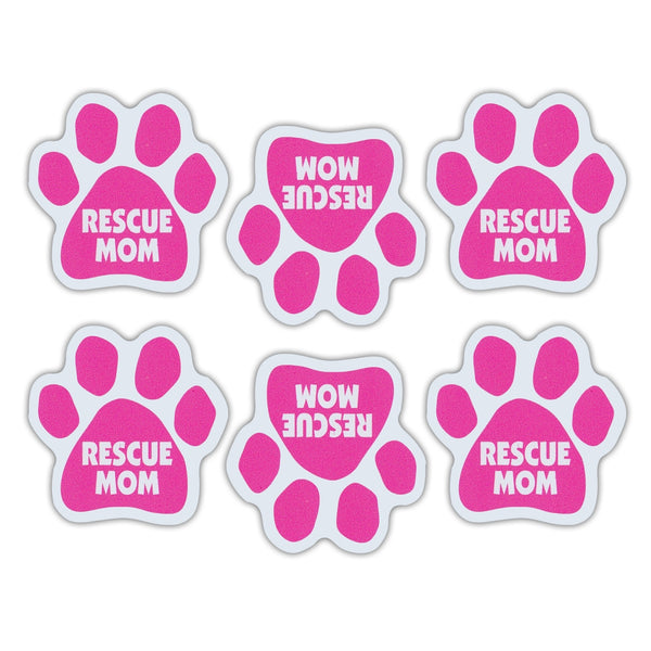 "Magnet Variety Pack - Pink Rescue Mom Paw Magnets, 1.75"" x 1.75"" Each"