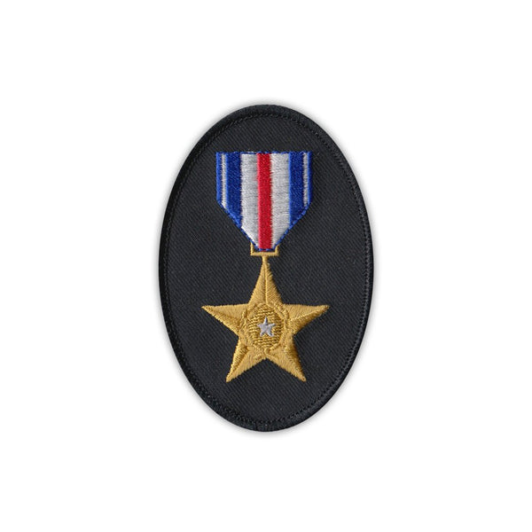 Patch - Silver Star Medal Ribbon