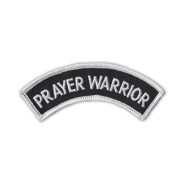 Patch - Prayer Warrior, Mini Rocker Arch
