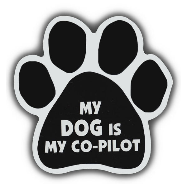 Dog Paw Magnet - My Dog Is My Co-Pilot