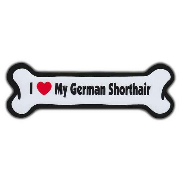 Dog Bone Magnet - I Love My German Shorthair