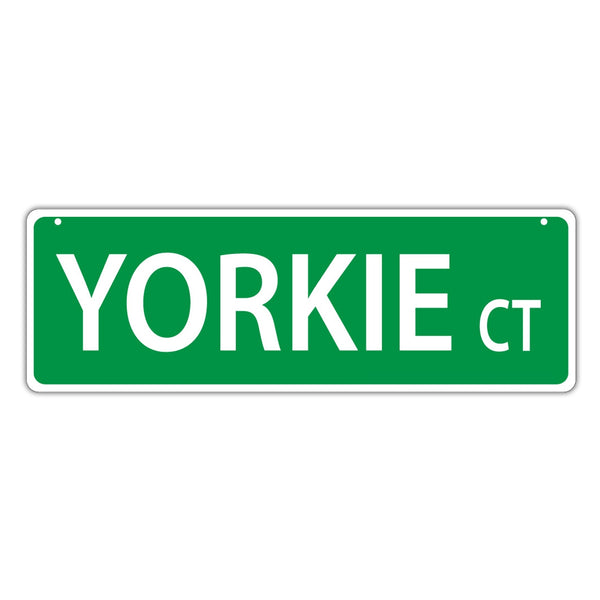 Novelty Street Sign - Yorkie Court
