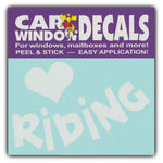 "Window Decal - Love Riding (4.5"" Wide)"