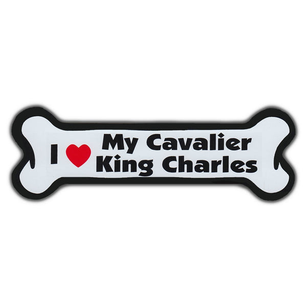 Dog Bone Magnet - I Love My Cavalier King Charles