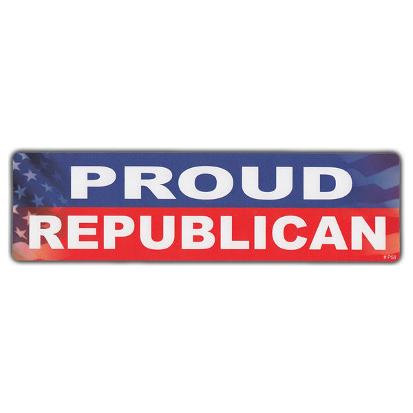 Bumper Sticker - Proud Republican