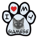Picture Paw Magnet - I Love My Siamese