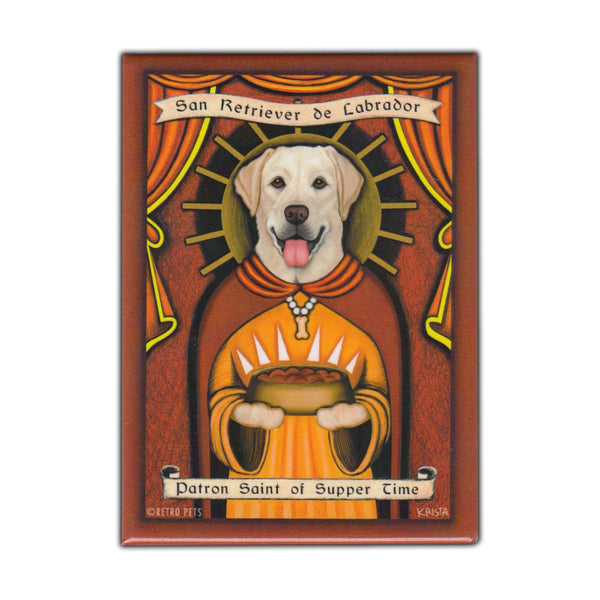 Refrigerator Magnet - Patron Saint Dog Series, Yellow Lab