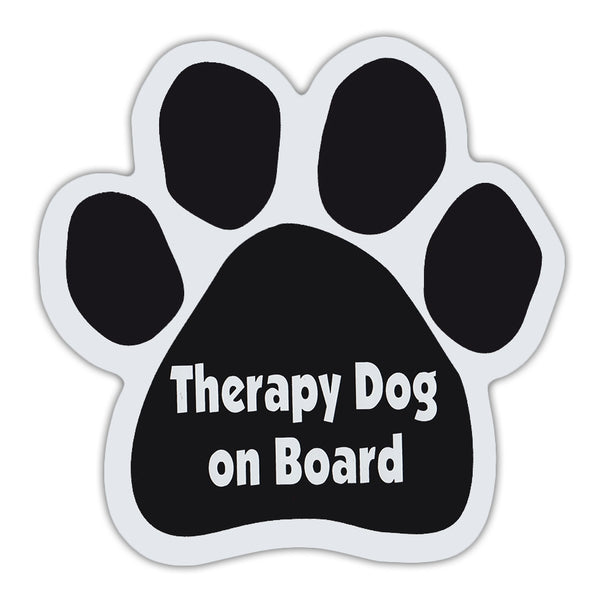 Dog Paw Magnet - Therapy Dog On Board
