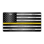 United States Flag Thin Yellow Line (Police, Fire, Medical Dispatchers Plate