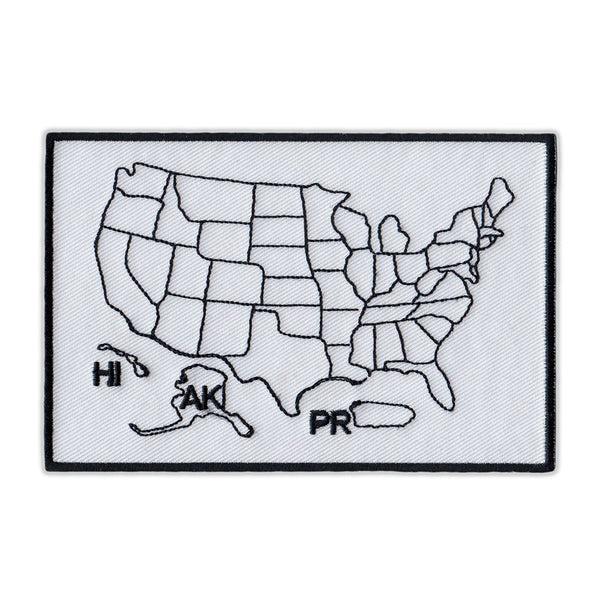 Embroidered Patch - States Traveled United States Map