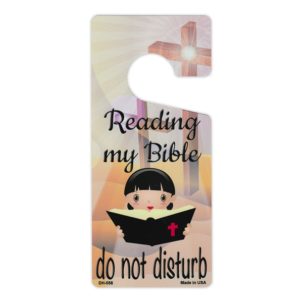"Door Tag Hanger - Reading My Bible, Do Not Disturb (4"" x 9"")"