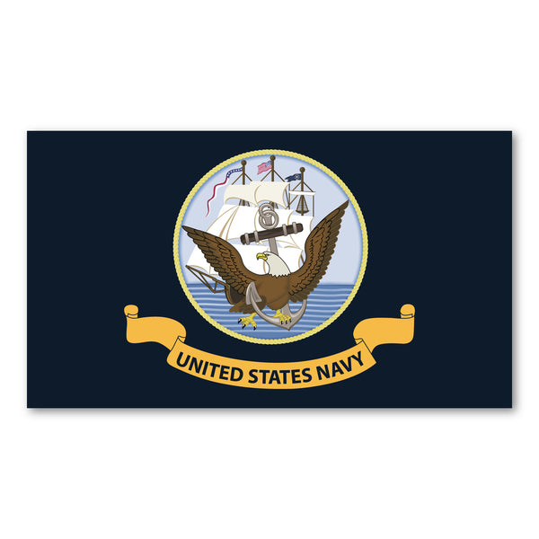 "Magnet - United States Navy Flag (7"" x 4"")"