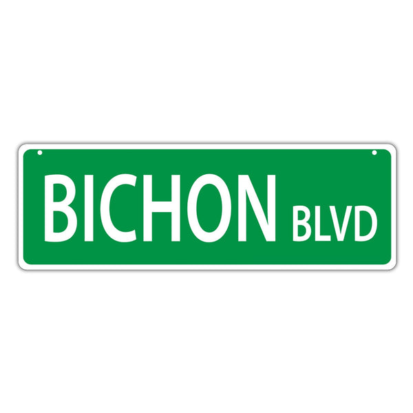 Street Sign - Bichon Blvd