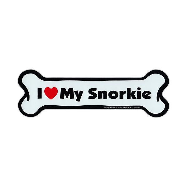 Dog Bone Magnet - I Love My Snorkie