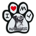 Picture Paw Magnet - I Love My Mini Schnauzer