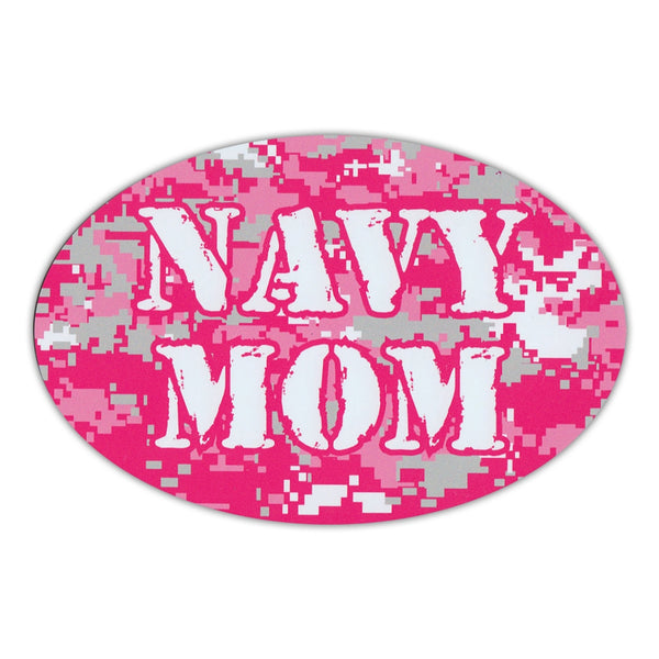 Oval Magnet - Navy Mom