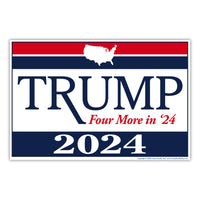 "Yard Sign - Donald Trump 2024 (18"" x 12"")"