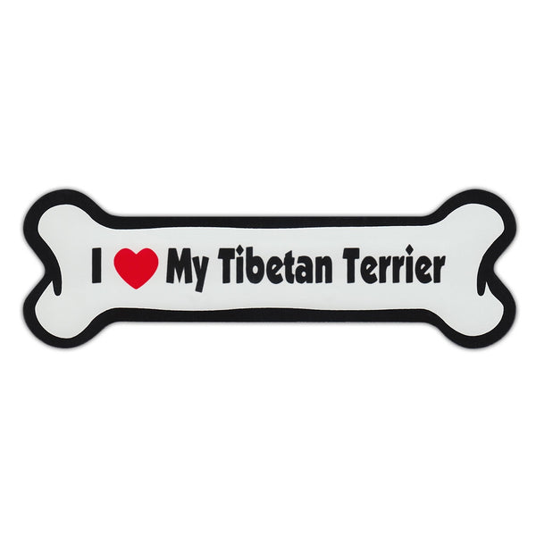 Dog Bone Magnet - I Love My Tibetan Terrier