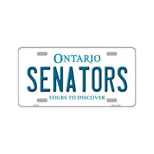 NHL Hockey License Plate Cover - Ottawa Senators