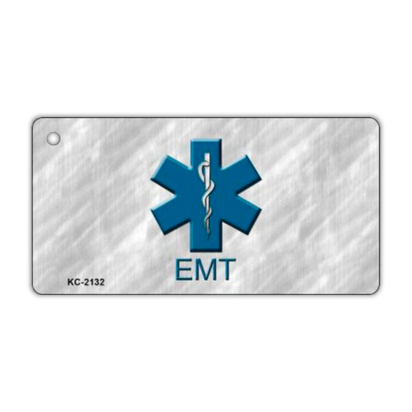 Aluminum Keychain - EMT Emergency Medical Technician (Star of Life)