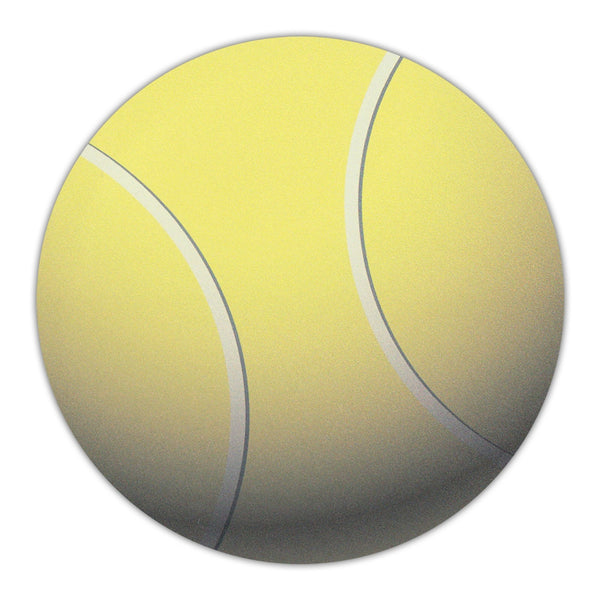 "Round Magnet - Tennis Ball (4.75"" Diameter)"
