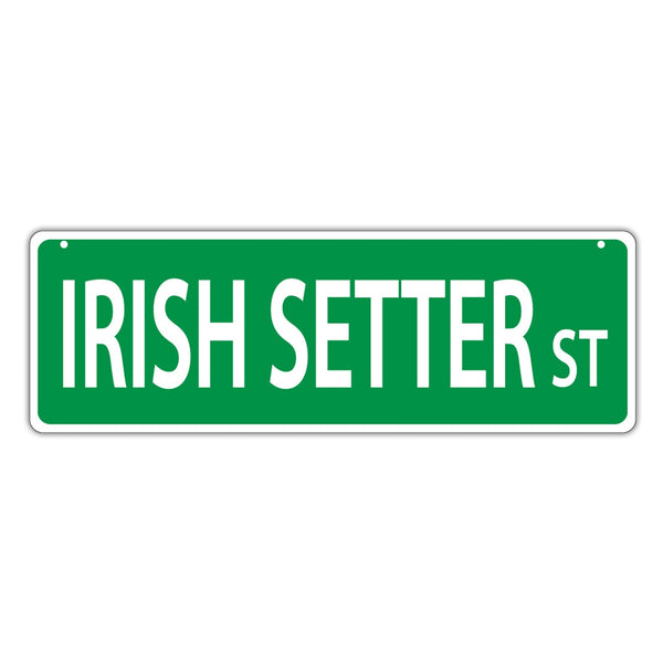 Novelty Street Sign - Irish Setter Street