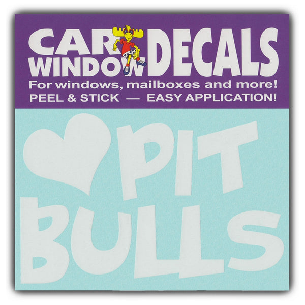 "Window Decal - Love Pit Bulls (4.5"" Wide)"