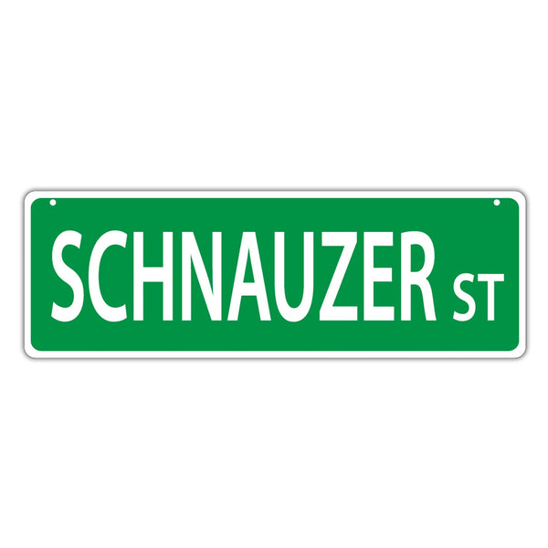 Novelty Street Sign - Schnauzer Street