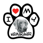 Picture Paw Magnet - I Love My Weimaraner