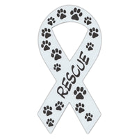 Ribbon Magnet - Rescue (White)