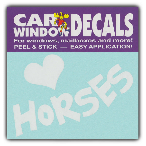 "Window Decal - Love Horses (4.5"" Wide)"