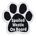 Dog Paw Magnet - Spoiled Westie On Board