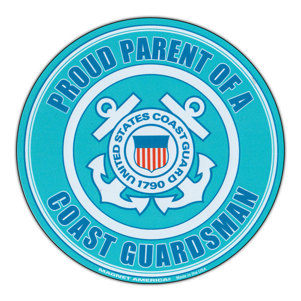 Round Magnet - Proud Parent U.S. Coast Guard