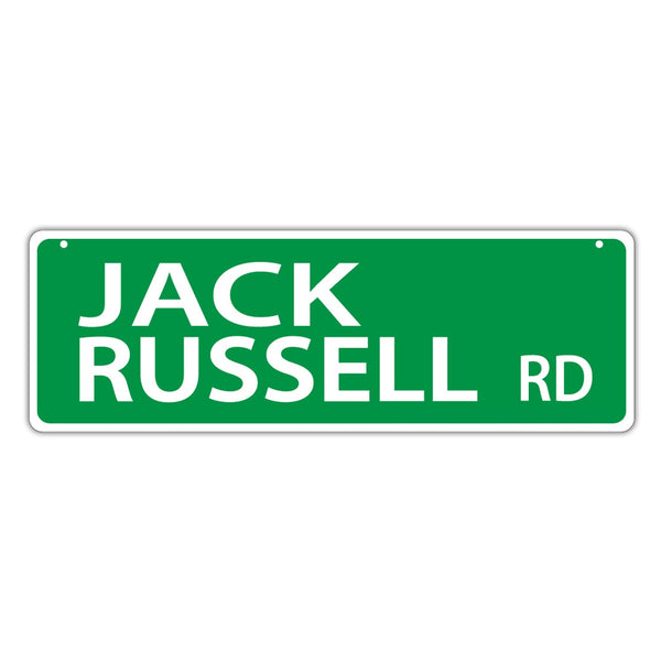 Novelty Street Sign - Jack Russell Road