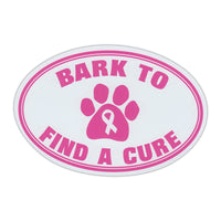 Oval Magnet - Bark To Find A Cure