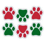 "Magnet Variety Pack - Red/Green Paw Magnets, 1.75"" x 1.75"" Each"