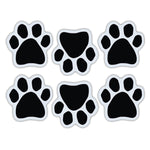 "Magnet Variety Pack - Black Paw Magnets, 1.75"" x 1.75"" Each"