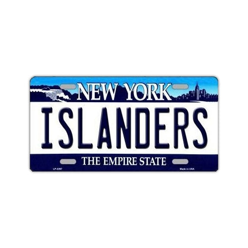 NHL Hockey License Plate Cover - New York Islanders