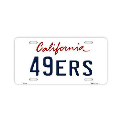 Aluminum License Plate Cover - San Francisco 49ers