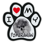 Picture Paw Magnet - I Love My Pomeranian