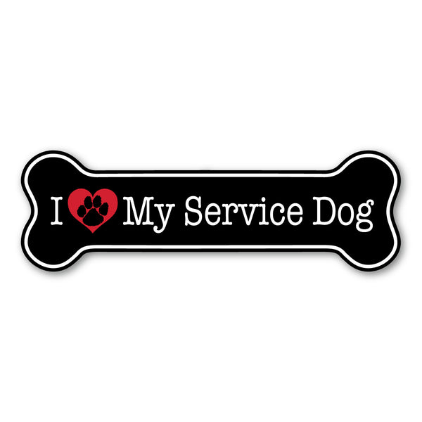 "Magnet - I Love My Service Dog (7"" x 2.25"")"