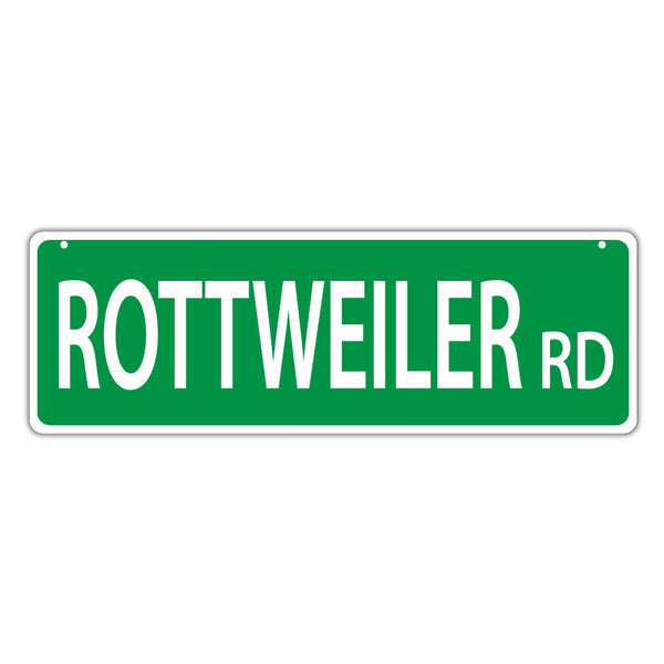 Novelty Street Sign - Rottweiler Road