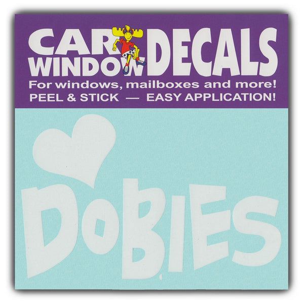 "Window Decal - Love Dobbies (4.5"" Wide)"