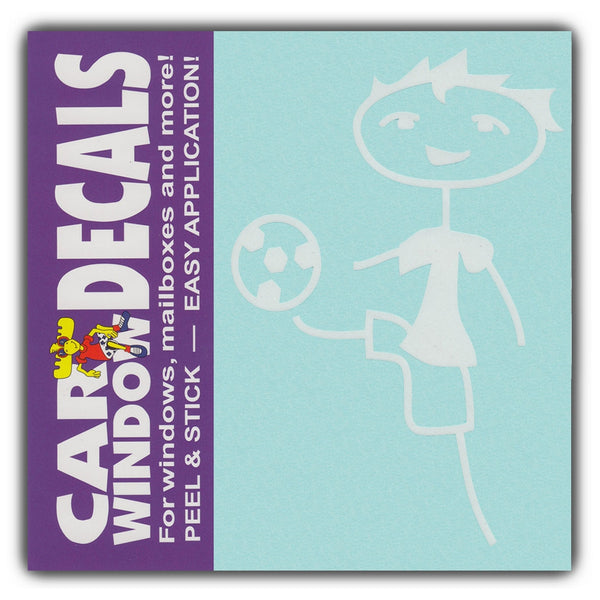 "Window Decal - Soccer Boy (4"" Tall)"
